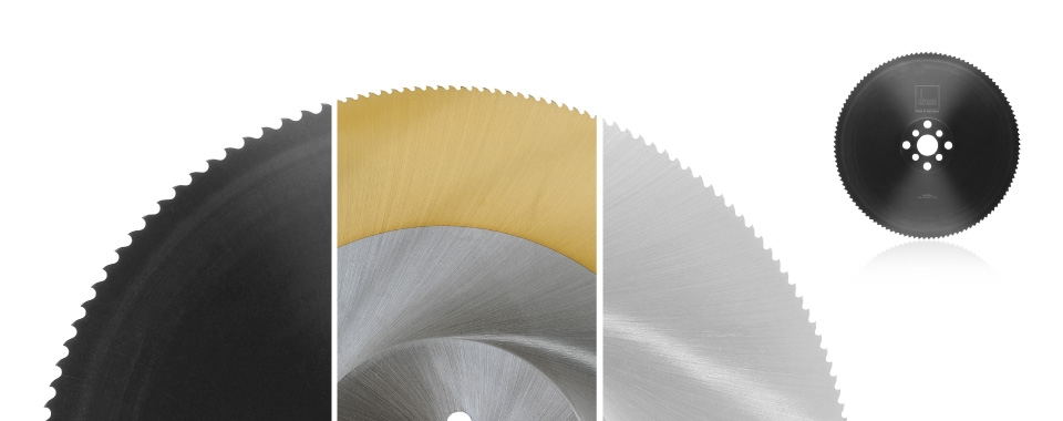 Metal cutting circular saw blades of HSS
